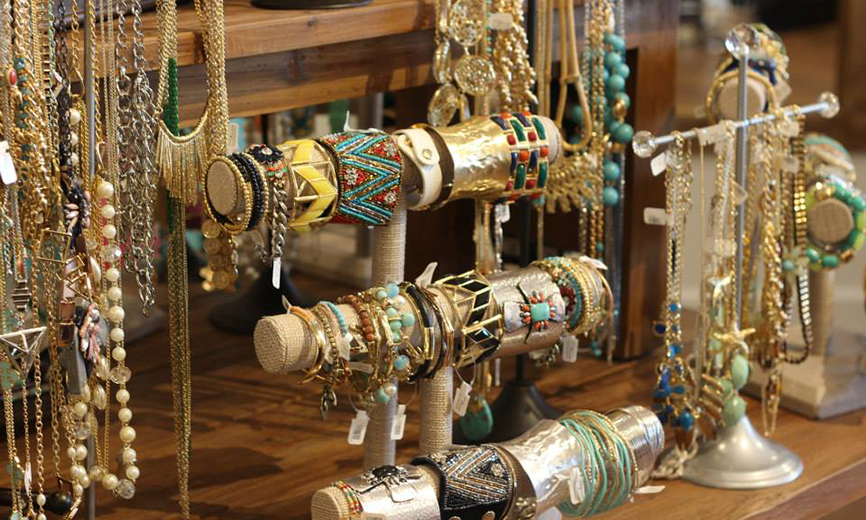 Assorted bracelets and necklaces