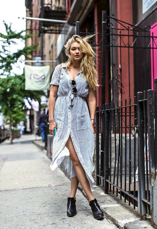 Le-Fashion-Blog-Model-Off-Duty-Street-Style-Gigi-Hadid-Striped-Shirtdress