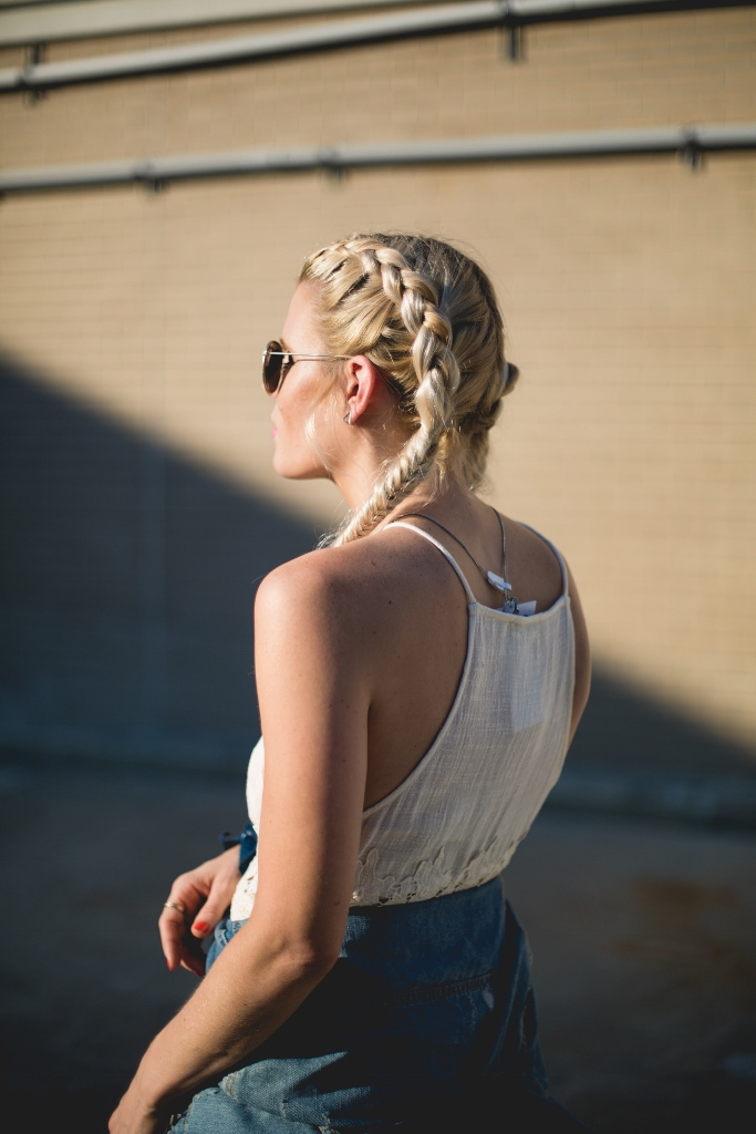 double inverted french braids