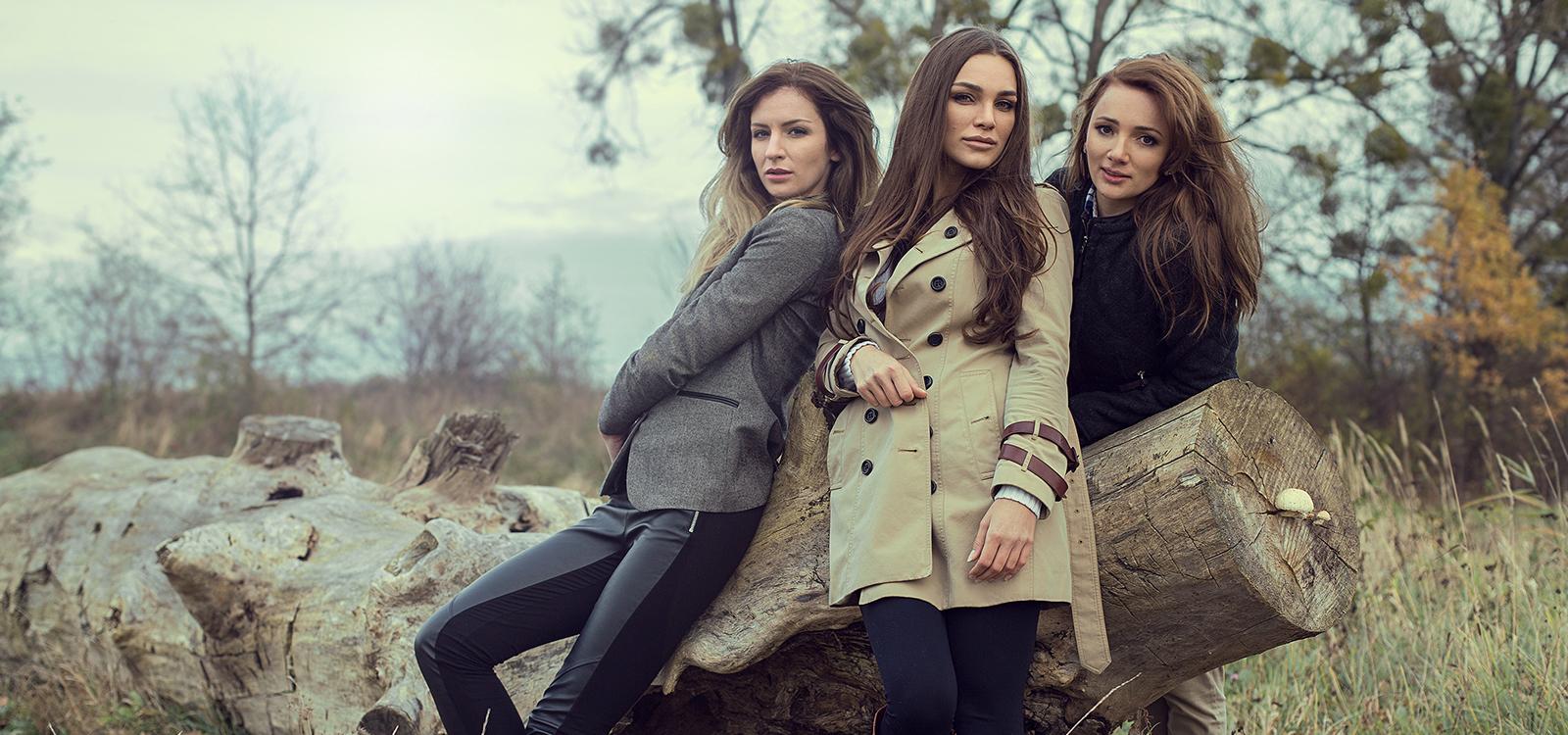 Tree women posing